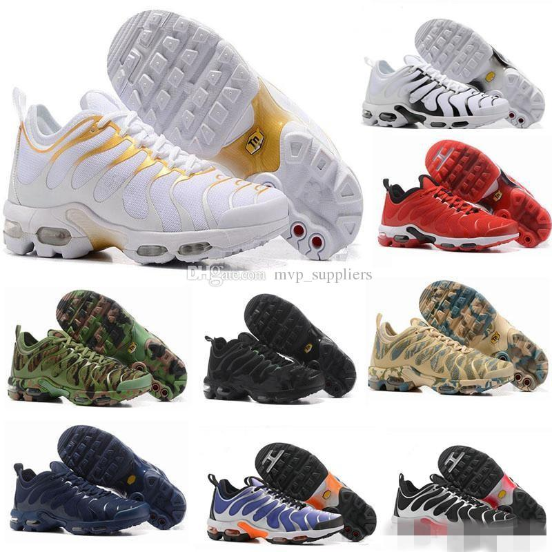 the best attitude e20c3 05aa4 2018 New TN Running Shoes For Men Women Kids Black Red White TN Ultra KPU  Cushion Surface Sneakers Trainer Shoes Size 36 46 Running Shoes Men Running  ...