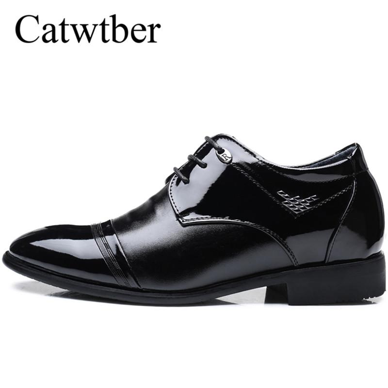 db2695302 Catwtber Mens Height Increasing Shoes Genuine Leather Classic Elevator 6CM Formal  Dress Shoes Male Wedding Business Loaf Fashion Shoes Cheap Shoes For Men ...