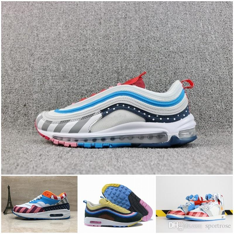 d87cbd807f53d 2018 Piet Parra X 1 White Multi Rainbow 270 1 97 Presto Running Shoes  Designer Sean Wotherspoon Zoom Spiridon Off Trainers Sports Sneakers  Sneakers Office ...