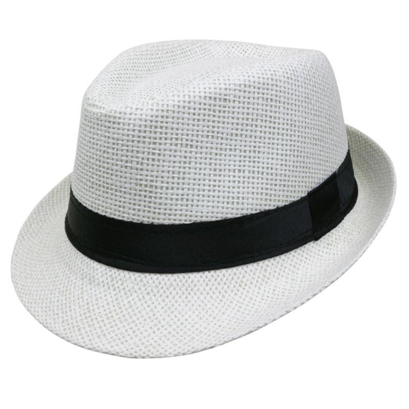 Hot sale Summer Style Child sunhat Beach Trilby Sun hat Straw panama Hat For boy girl Fit For Kids Children 54 cm