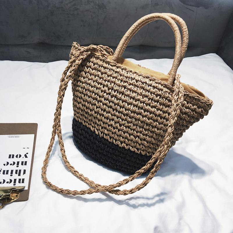2018 New Summer Women Fashion Designer Lace Handbags Female Beach Wicker  Rattan Bag Shoulder Bag Shopping Straw Casual Tote Laptop Bags Leather  Backpack ... 86fe1713aa