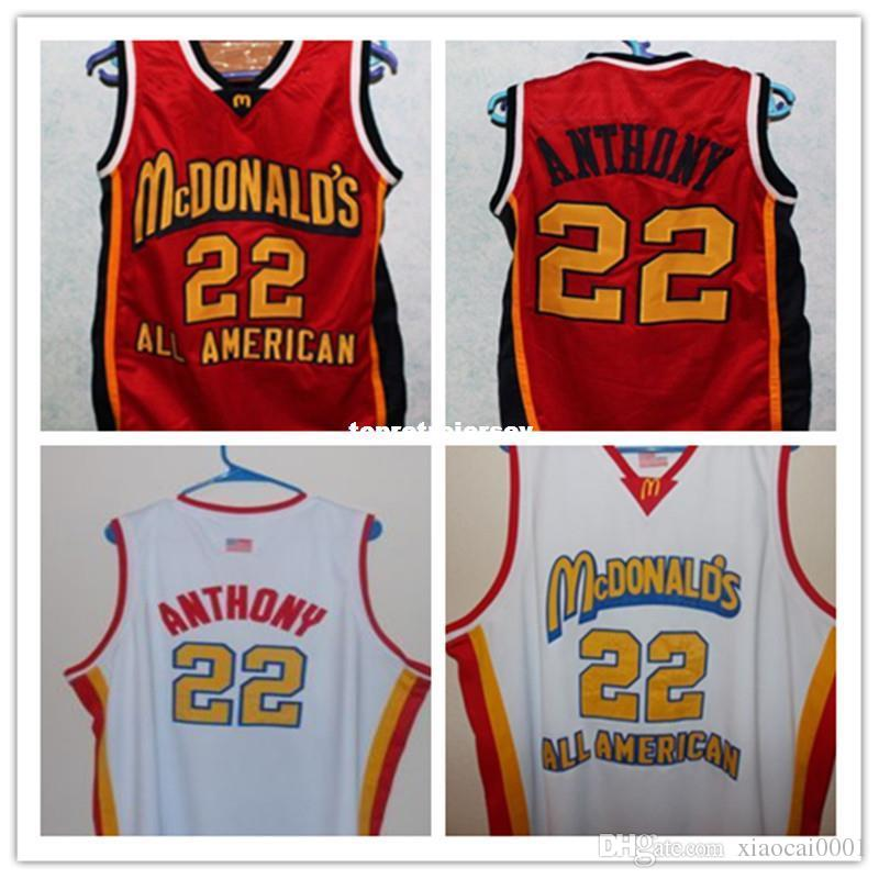 6851e999 2019 Cheap #22 CARMELO ANTHONY Dolphins McDonald ALL AMERICAN High Quality Basketball  Jersey #5 BARON DAVIS Retro Vest T Shirt Cheap Menswear From ...