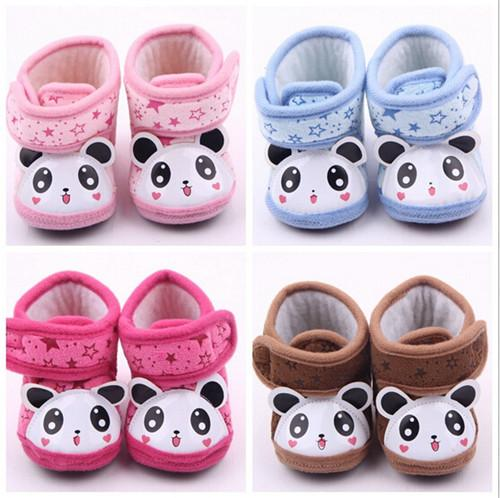 2015 Fashion Lovely Fleece Baby Snow Boots Newborn Warm Shoes First Walkers Infants Boys Girls Soft Bottom Shoes