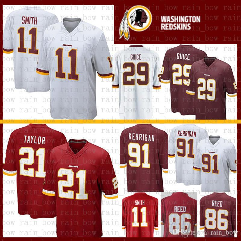 2019 Stitched Washington 11 Alex Smith Jersey Redskins 29 Derrius Guice 21  Sean Taylor 86 Reed Mens Jerseys From Rain bow 374758ead