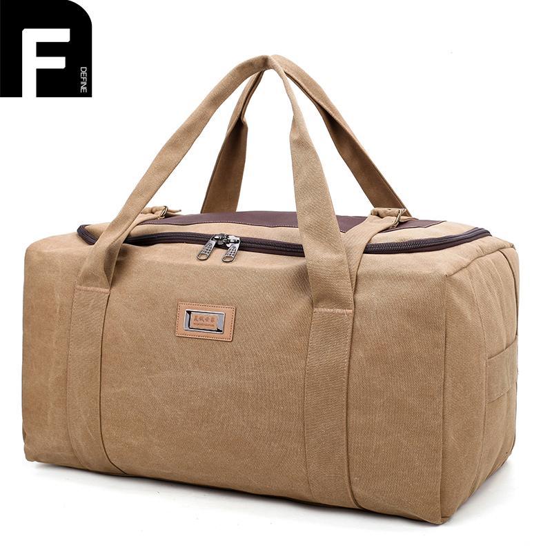 6603c94953 Women Men Large Travel Duffel Bags Wearproof Canvas Weekend Handbag  65x31x35cm Extra Large Travel Luggage Backpack Overnight Bag Halliburton Suitcase  Womens ...