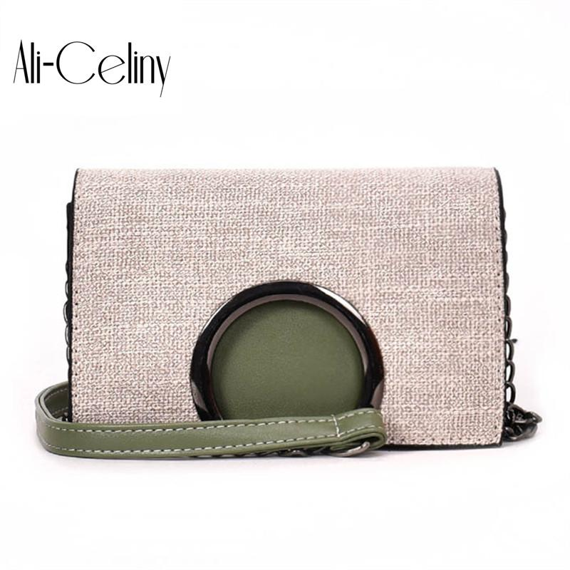 5cff04045c 2018 New Style Famous Brand Minimalist Crossbody Bag Women Shoulderbag  Messenger Chain Puzzle Ring Bags For Women Handbag Brands Cheap Bags From  Fenxin
