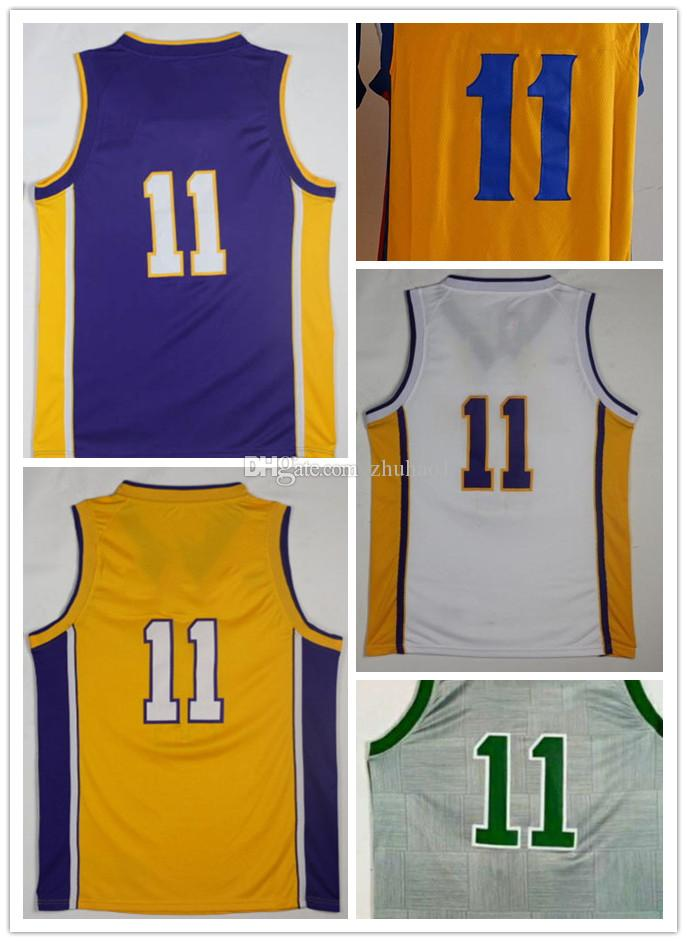 54ff6a7e4 ... wholesale mens 11 brook lopez and kyrie irving jersey yellow white and  purple 11 mychel thompson
