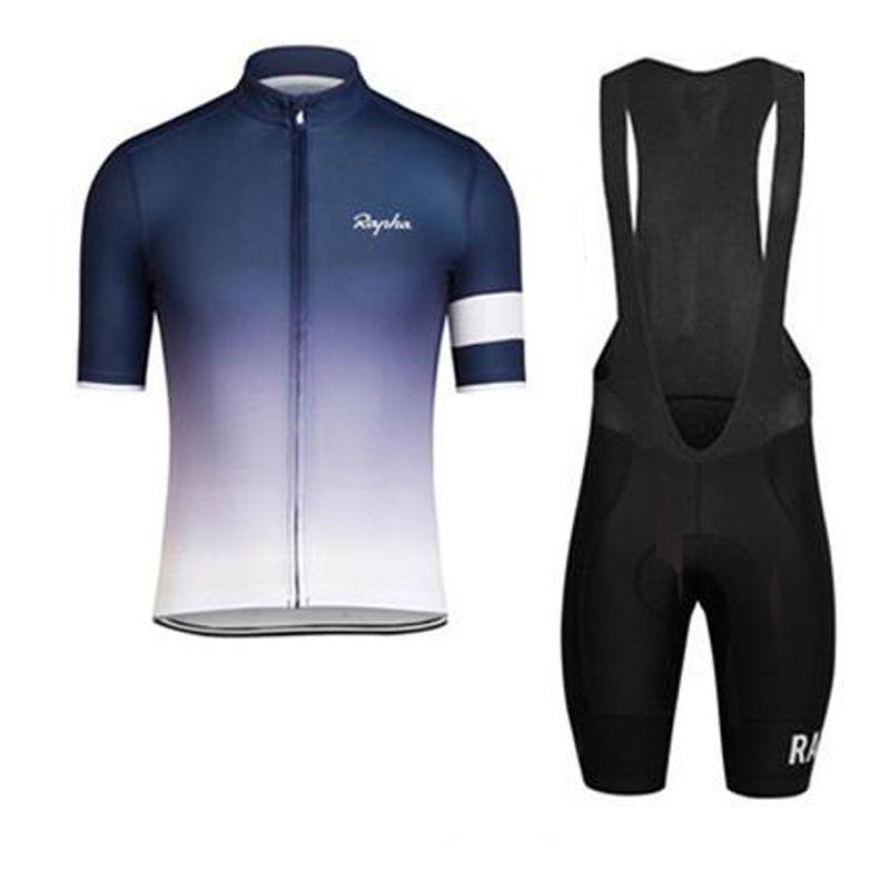 RAPHA yaz mens kısa kollu bisiklet jersey bisiklet giyim Giymek bib SET MTB üniforma PRO bisiklet giyim bisiklet Maillot Culotte suit