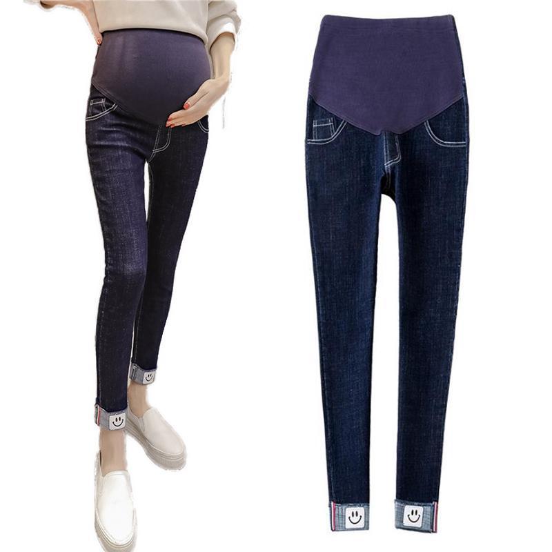 506733c85 Compre Pantalones Vaqueros De Maternidad Eans Para Embarazadas Elásticos  Elásticos De Cintura Ajustada Pantalones De Maternidad Pantalon Embarazadas  Ropa De ...