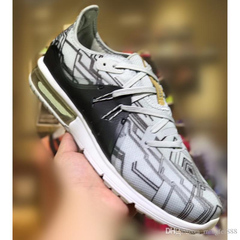 first rate 8c988 b6f5e Acheter 2018 Nouvelle Arrivée Maxes Hors Sequent 3 Casual Chaussures De  Course Pour Top Qualité Gris Noir Blanc Hommes Femmes Formation Sneakers  Jogging ...