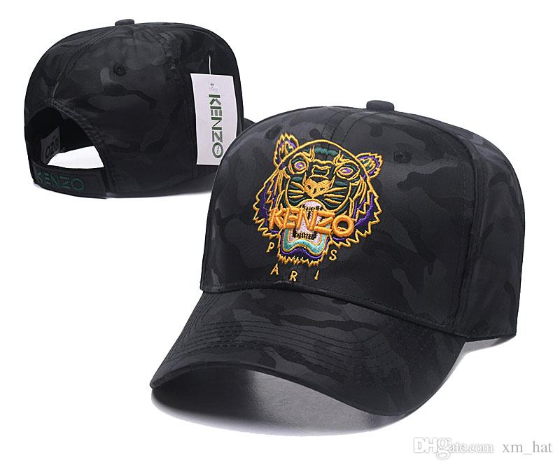 Designer Baseball Caps New Brand Tiger Head black with gold logo Hats Gold Embroidered bone Men Women casquette Sun Hat gorras Sports Cap