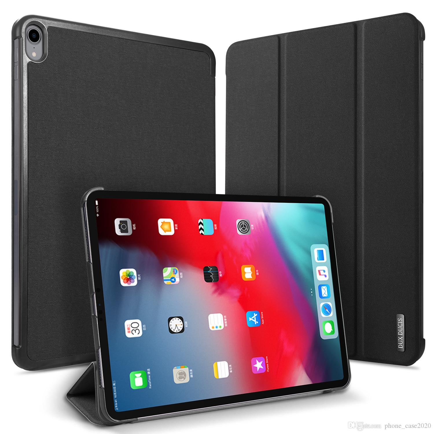 Tablet Accessories Sporting Tablet Stand Case For Ipad Pro 12.9 2018 Case Silicon Shell Leather Protective Cover For Ipad Pro 12.9 Case 2018 Flip Case Funda Tablets & E-books Case