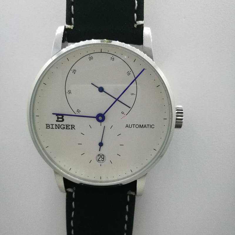 4dcd4b7bdee Compre Binger Homens Relógio Marca De Luxo Mecânico Automático Mens Relógios  Safira Masculino Japão Movimento Reloj Hombre B 1187 11 De Goodquality66