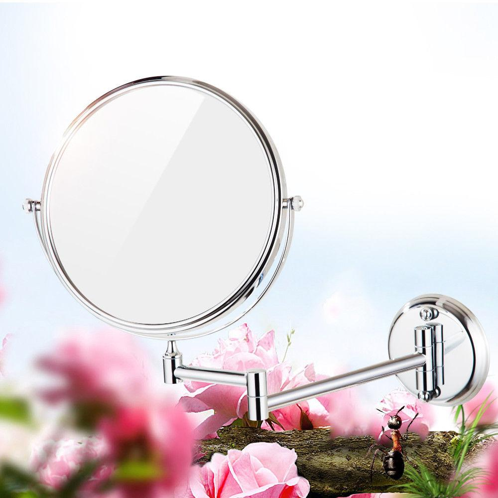 8/6 Diameter Bathroom Shaving Makeup Mirror Wall Mount Two Sides ...