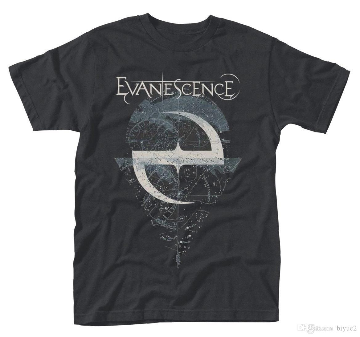 Evanescence 'Space Map' T-Shirt - NEUE OFFIZIELLE Neue Ankunft Männliche T-Shirts Casual Boy T-Shirt Tops Rabatte