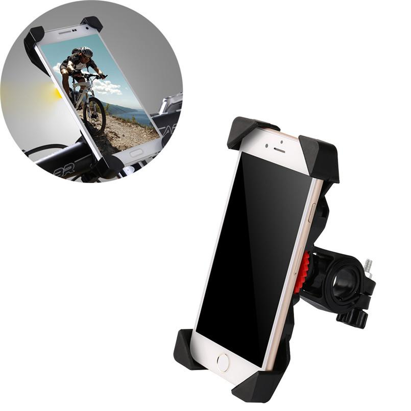 Non-slip Universal 360 Rotating Bicycle Bike Phone Holder Handlebar Clip Stand Mount Bracket For Smart Mobile Cellphone 30ST04