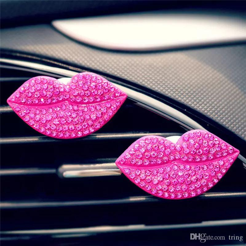 Nuovo Natale Fashion Loving Sexy Lips Car Air Profumatore Outlet Freshener Profumo Clip Freshener Diffuser Gift