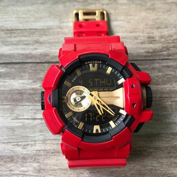 Compre Shock Sport Reloj De Pulsera De Los Hombres A Prueba De Agua De  Calidad AAA G Relojes De Estilo Militar Militar LED Reloj Deportivo Digital  ... 757a798e6292