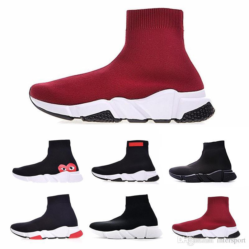 3b31ce4f50 Compre Nuevos Calcetines De Diseñador Clásicos Zapatos Speed hombre  Zapatillas De Deporte Zapatillas De Deporte De Velocidad Calcetines  Corredores De ...