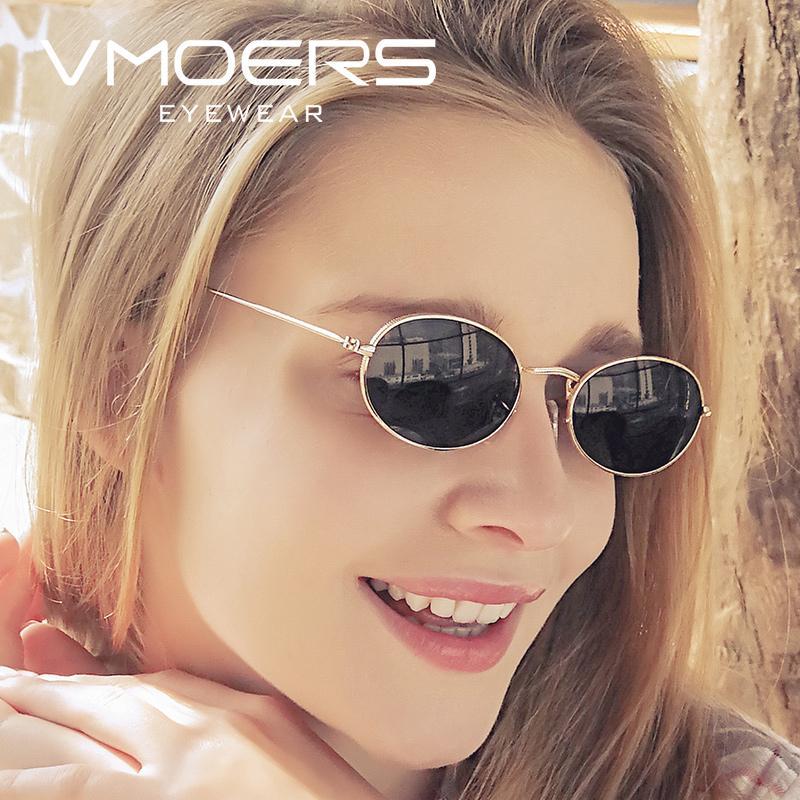 ae8149c3d3 Compre VMOERS Señoras Pequeñas Gafas De Sol Ovaladas Mujeres Retro Marca  Sunglases Lunette De Soleil Femme Nuevo Vintage Mujer Gafas De Sol Para  Mujeres A ...
