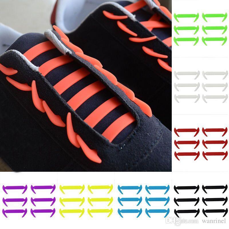 c64f356a8d2 Compre Venta Caliente Gratis 12 Unids   Lote Cordones De Silicona Elástica  Para Los Zapatos Cordones De Los Zapatos Especiales No Atar Los Cordones De  Los ...