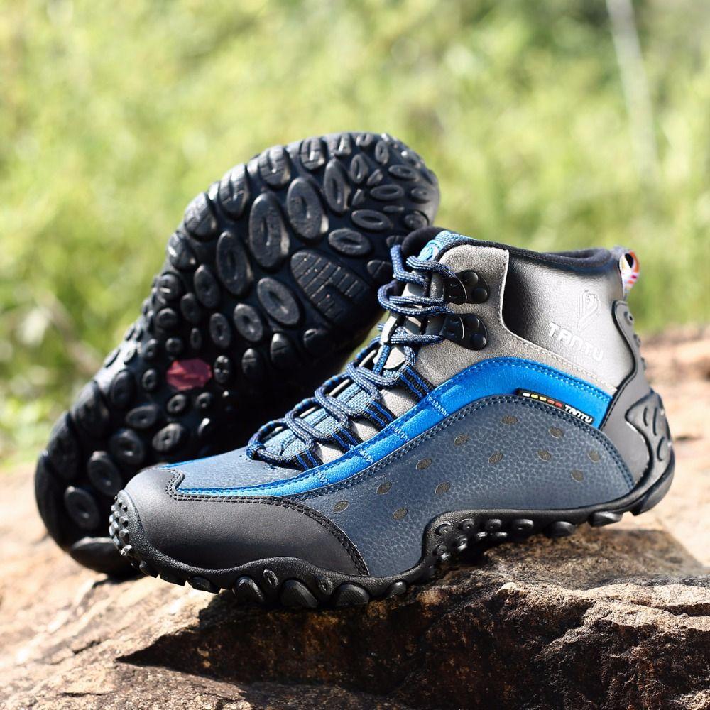 premium selection c0b2a 831d0 Compre Turismo Senderismo Zapatos Botas De Camping Zapatos De Cuero Para  Hombres Transpirable Trekking Al Aire Libre Hombre Zapatillas De Montaña  Escalada ...