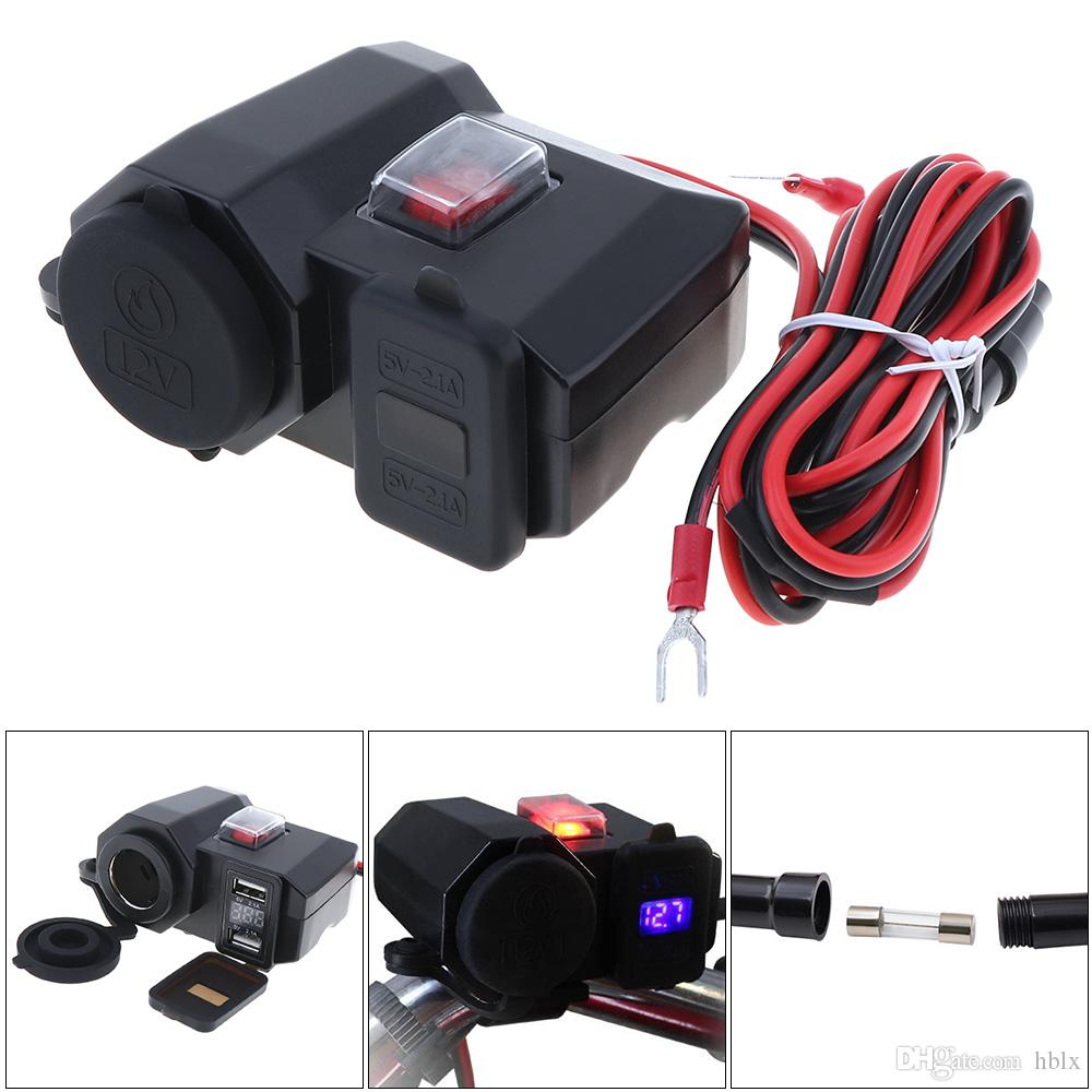 2018 3 In 1 12v Dc 5v 21a Double Usb Adapter Waterproof Motorcycle Wiring To Charger Support Installation Cigarette Lighter Mot 313 From Hblx 1036