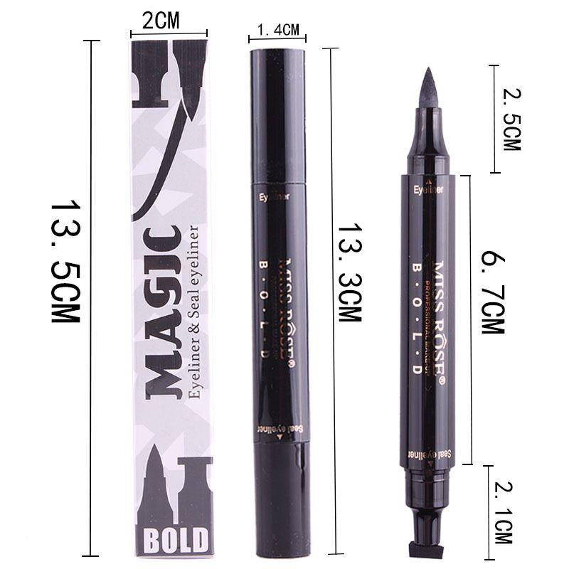 New Makeup Liquid Eyeliner Matita maquiagem Quick Dry Impermeabile Eye Liner con Miss Stamp Eye matita bea491