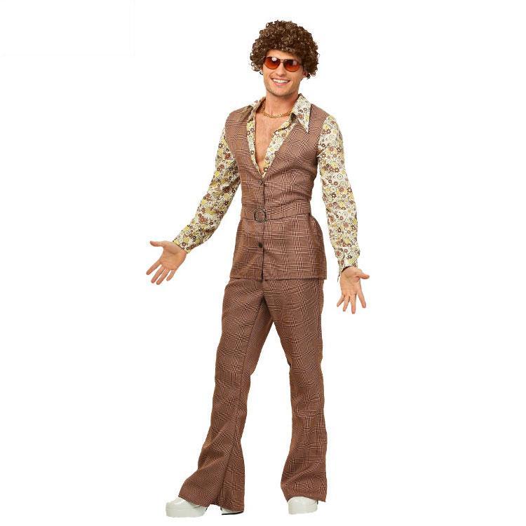 sneakers for cheap 2da74 47f7c IREK hot Halloween Costume cosplay Costume Spettacoli teatrali  Abbigliamento anni 70 discoteca da uomo Costumi
