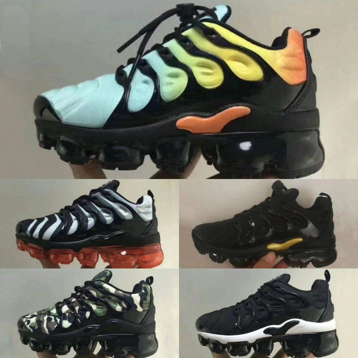 first rate 01ec3 9a85e Acheter 2018 New Plus VM Noir   Blanc   Enfant Chaussures Baskets Ensemble  De Trois Chaussures Pour Enfant Air Ultra TN Pour Enfant Triple Ultra De   86.2 Du ...