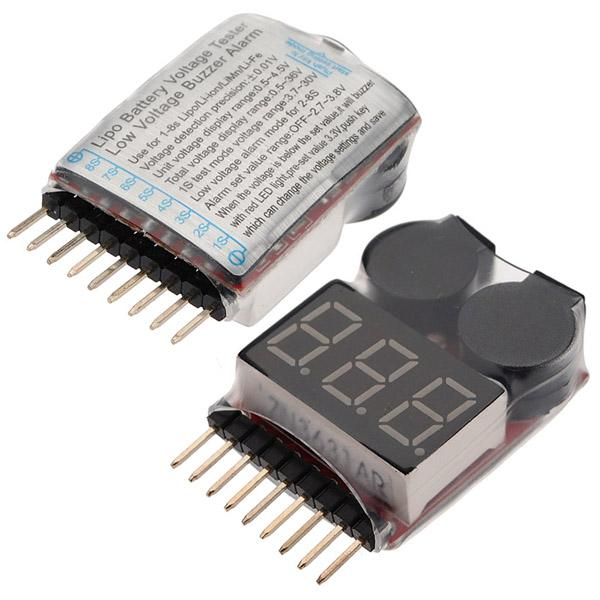 10pcs 1-8S Buzzer Alarm Lipo/Li-ion Low Voltage Indicator Check Tester For  RC Helicopter Airplane Battery protection