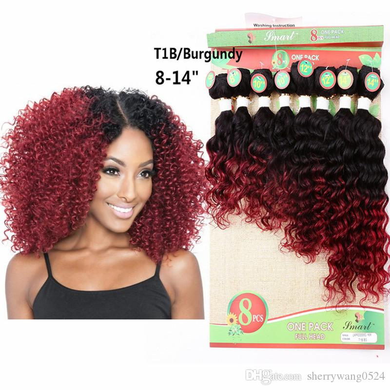 Brazilian Kinky Curly Hair Weave Ombre T1bbug Jerry Curly Hair Weft