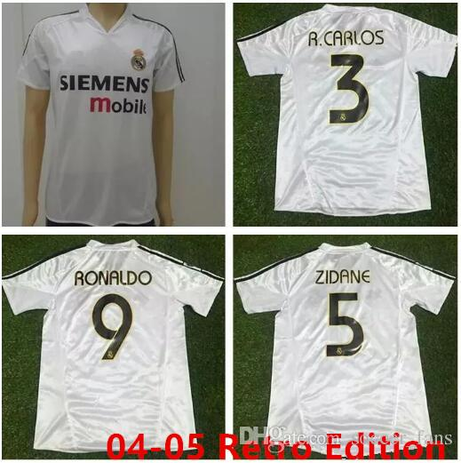 2cf041971daa0 2019 2004 2005 Real Madrid Jersey Retro Vintage Classic 04 05 ZIDANE  BECKHAM RONALDO CARLOS RAUL Camisetas Futbol Maillot De Foot Soccer Shirt  From ...