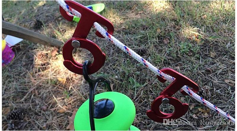 متعددة الوظائف التخييم هوك encamp أدوات 3 ألوان الخيام الرياح حبل مشبك ل موقف ثابت سبائك الألومنيوم أدوات 4jy x
