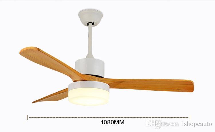 Soffitto Nuovo LED Fan Soggiorno 85-265V Legno fan soffitto con luci 42 pollici Blades ventola di raffreddamento remoto Fan Lamp