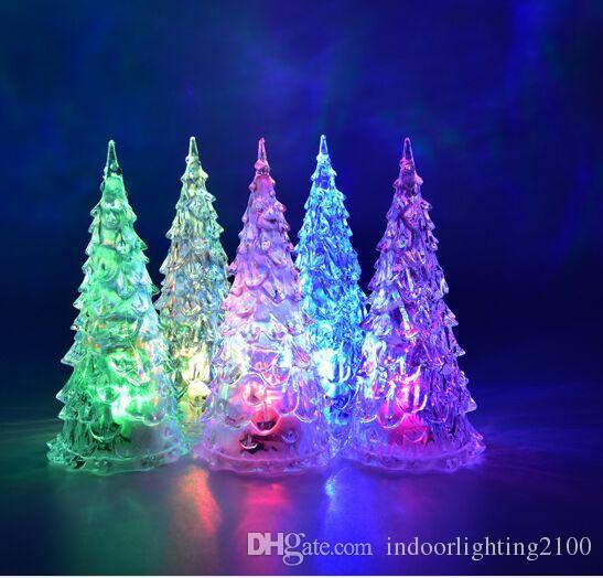 2019 Wholesale Seven Color Changeable Led Acrylic Christmas Trees