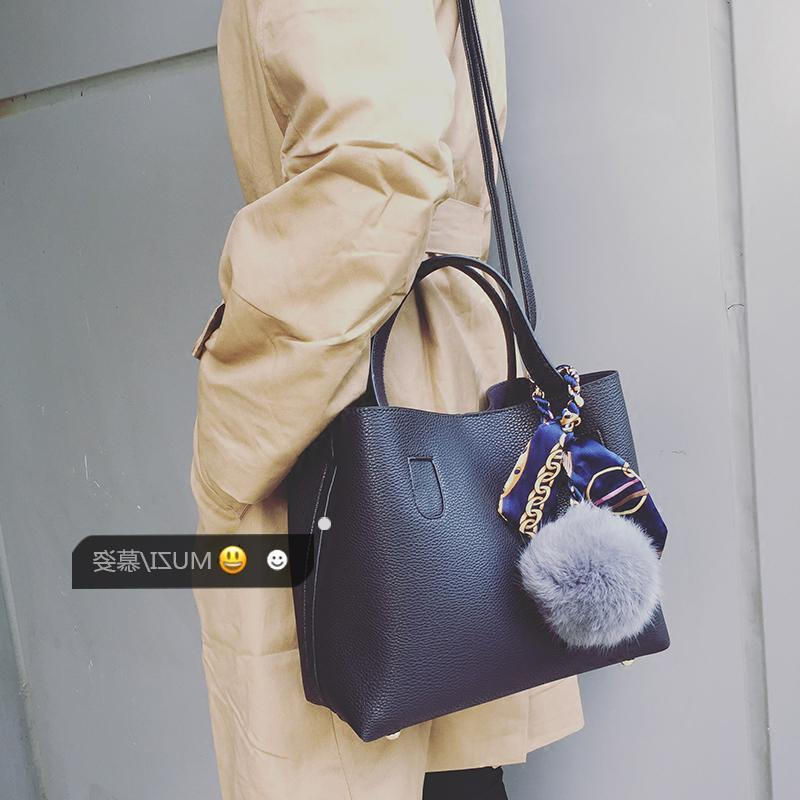 Litchi Pattern Soft PU Leather Women Handbag Two Pieces Female Shoulder Bag  Girls Messenger Bag Casual Women Bag Tote Handbags Relic Purses From  Pvflymk0 e637530a9be31