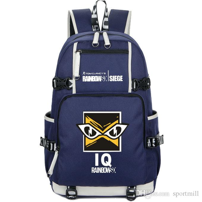 2019 IQ Backpack Rainbow Six Siege School Bag 6 Game Daypack Schoolbag  Outdoor Rucksack Sport Day Pack From Sportmill c365d2eead49b
