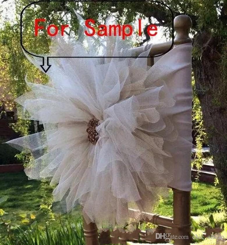 2018 Pour 3D fleur chaise écharpes chaise couvre échantillon lien lien nouvelle arrivée chaise écharpe décorations de mariage Vintage