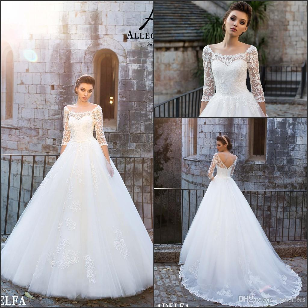 Vintage Wedding Dresses Under 1000: Discount Off The Shoulder Elegant Wedding Dresses 2018 New