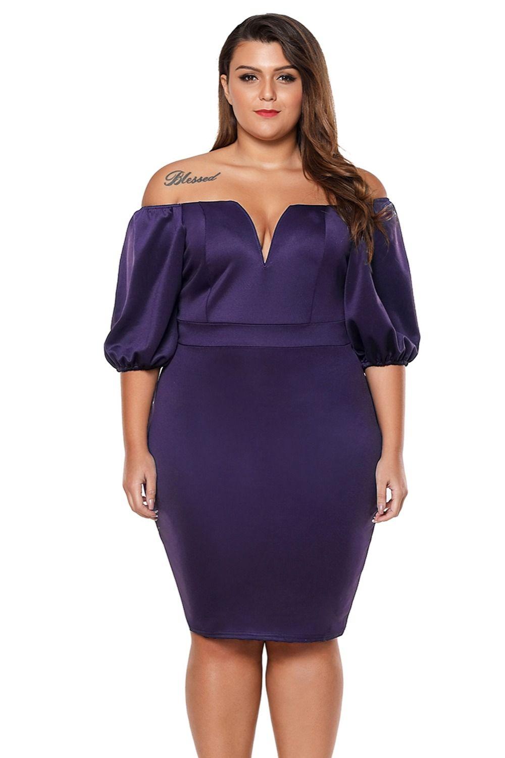 Summer Dresses 2018 Fashion Plum Queen Style Short Puff Sleeve Plus ...