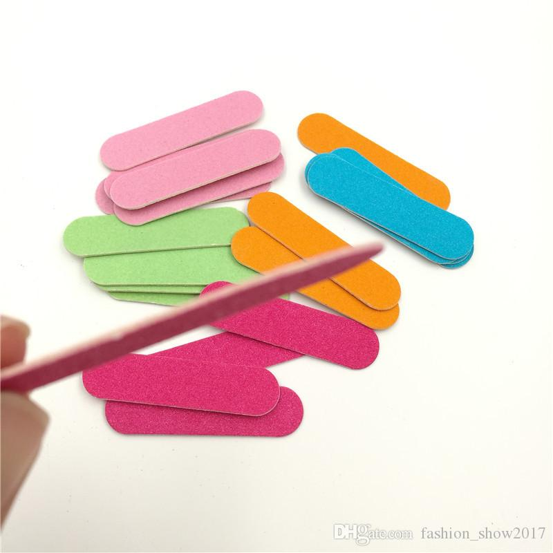 Mini Professional Nails Files Art Tools Sable Emery Board Papier de verre Tampon à ongles double face Tampon abrasif