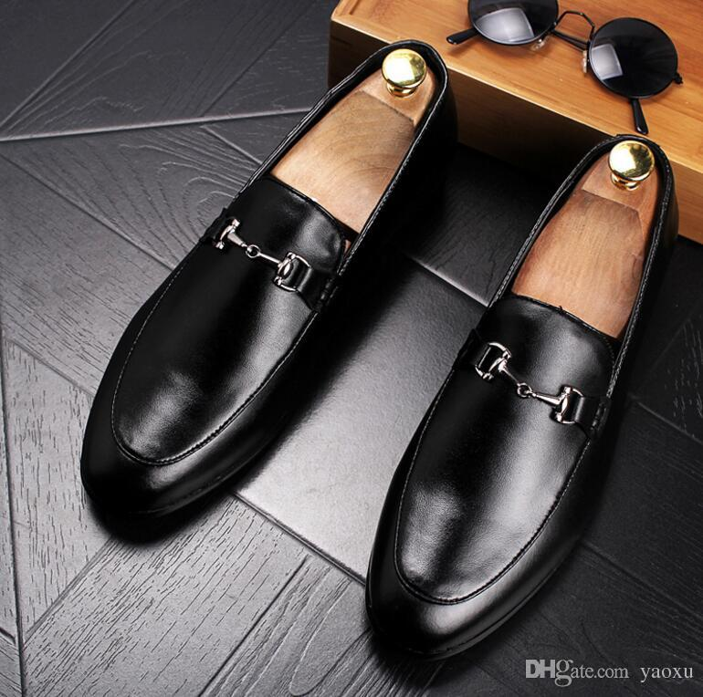 Luxury Newest Fashion Men Metal shoes Man's Formal Shoes For Homecoming Wedding Business Christmas gift [With Box].