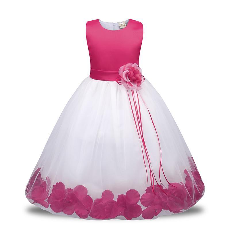 68b95bea4043 Acheter Jq 234 Nouvelle Fleur Robe Petite Fille Robes Fête D anniversaire  De Mariage Cérémonie Enfant En Bas Âge Filles Vêtements Fille Robe Tutu Pour  ...