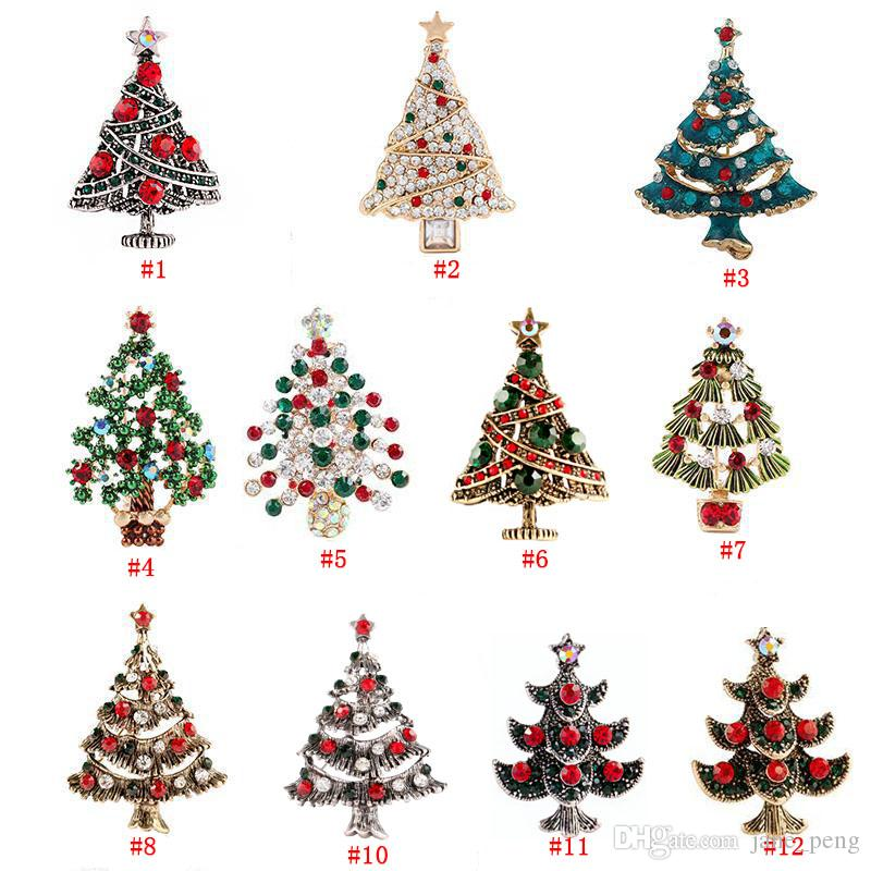 Crystal Christmas Tree Brooches Pins for Women Men Children Gift Breastpin Fashion  Rhinestone Lapel Pin European American Style Badge Broach Christmas Gift ... d39414315ca2