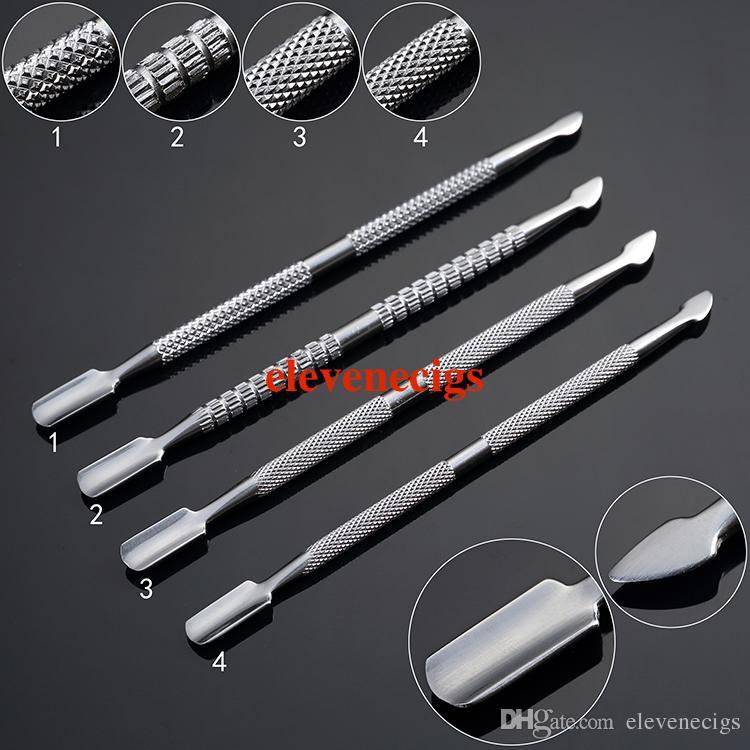 E-sigara aksesuarları 4 stil balmumu dabber aracı paslanmaz çelik kuru ot buharlaştırıcı kalem için dab araçları
