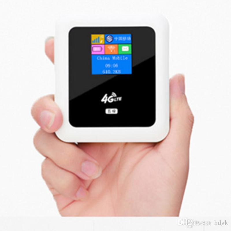 Portable Unlocked Mobile 4G Modem LTE Mini WiFi Router Pocket Wireless  Hotspot Power Bank with SIM Card Slot Support 5200mAh Battery