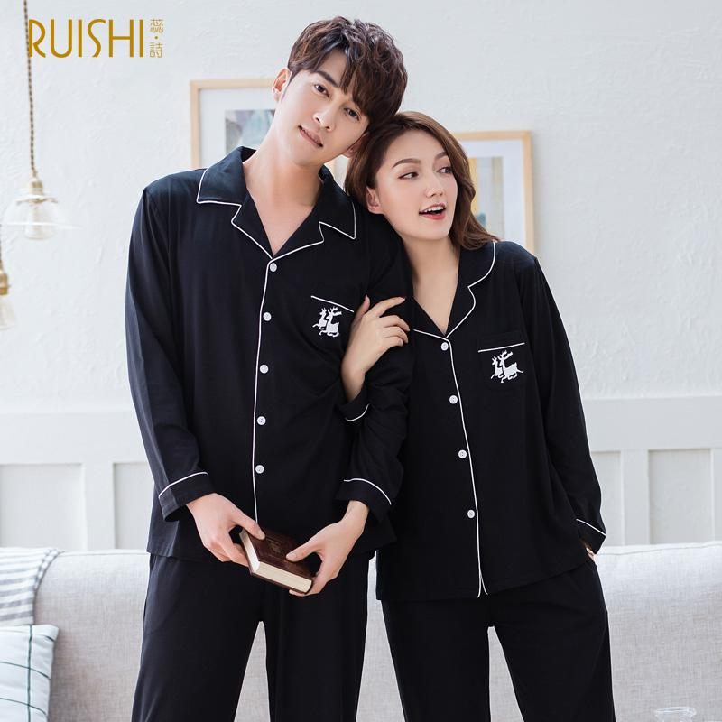 J&Q new arrival men and women matching pajamas pijama masculino men sleepwear top quality cotton modal pajamas couple suits