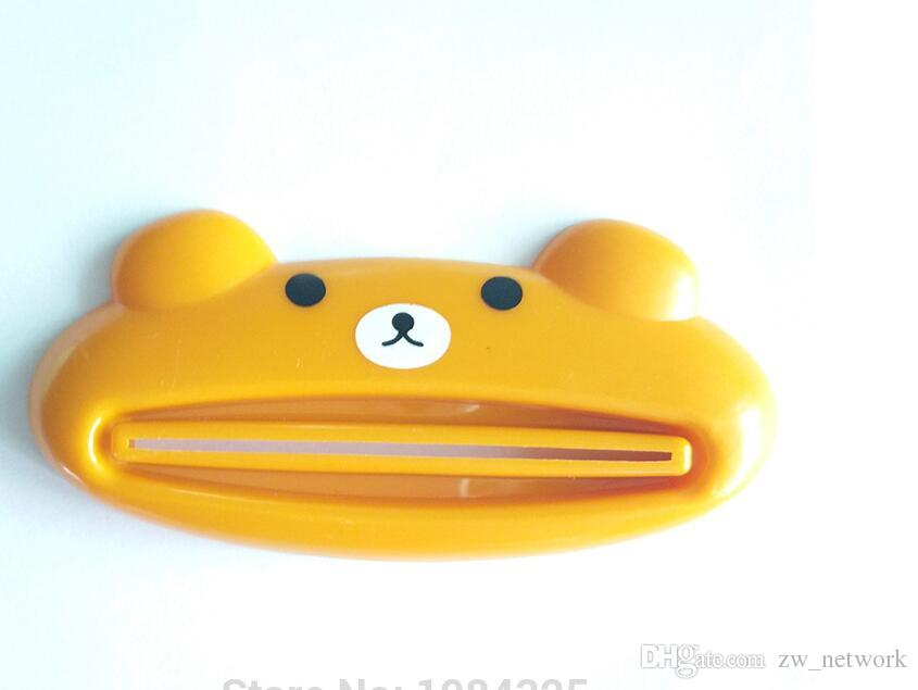 Cute Cartoon Animal toothpaste squeezer multifunction Tube Rolling Holder squeezer Home Commodity Bathroom Tube Cartoon Toothpaste Dispenser