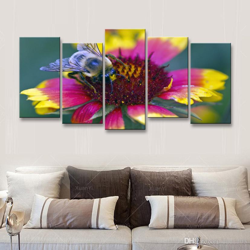 5 Stücke High-Definition-Druck Schmetterling Leinwand Malerei Poster und Wand Kunst Wohnzimmer Bild B-076